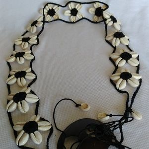 Accessories - Belt Shell Flower Stretch